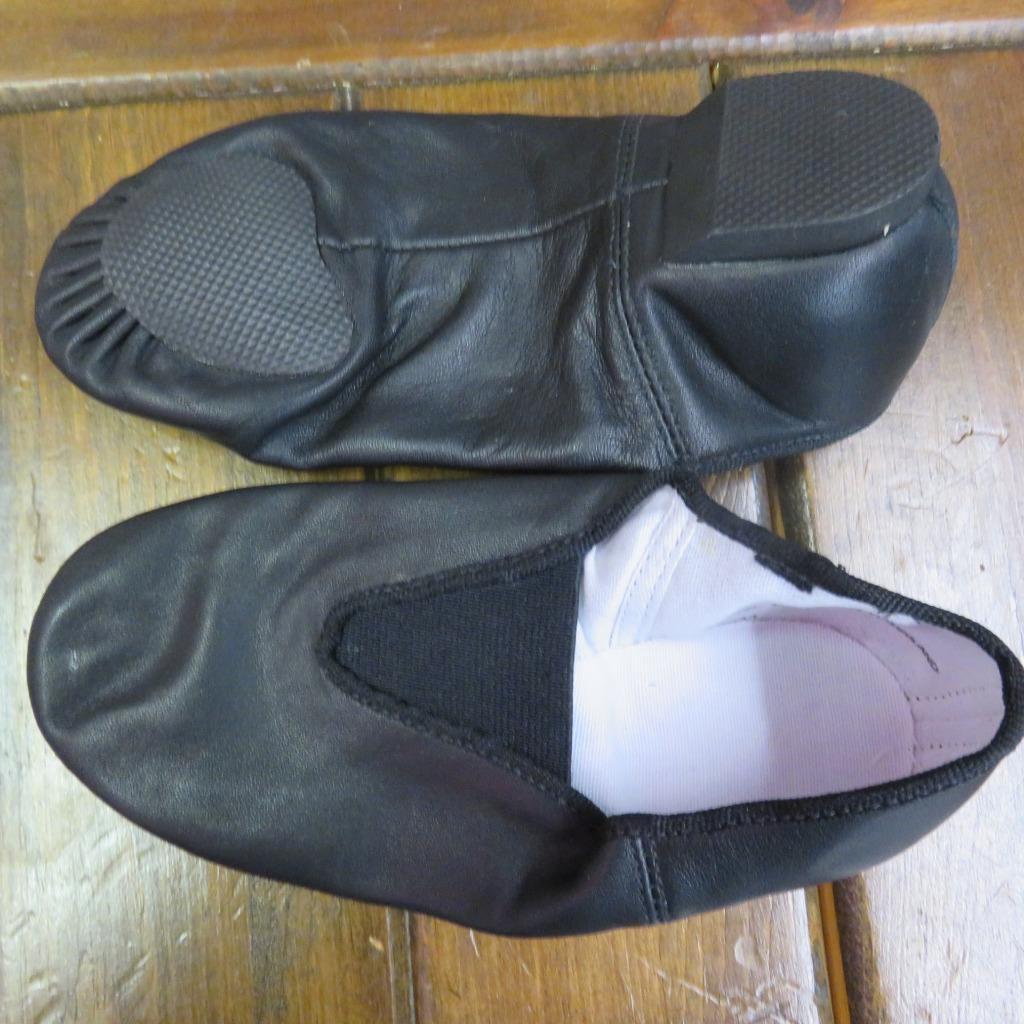 new jazz shoes slip on black or child to sizes