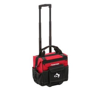 husky 14 in rolling tool tote portable storage organizer