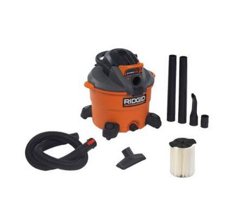 Ridgid Shop Vac Casters >> Ridgid 12 Gal 5 PHP Wet Dry Vacuum Floor Cleaner Home Car ...