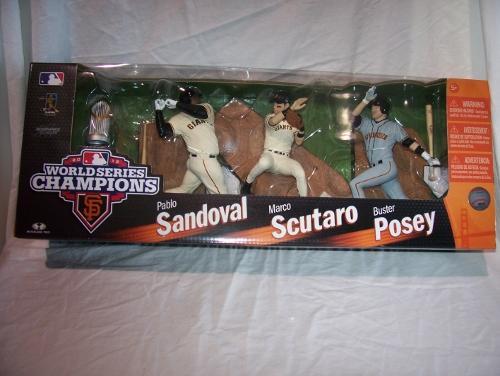 2013 San Francisco Giants World Champions 3 Pack McFarlane Scutaro, Posey, PS