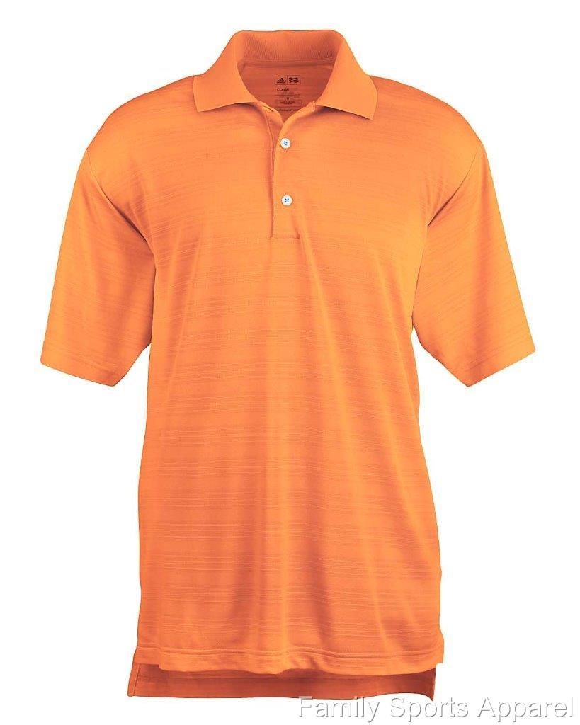 Adidas golf men 39 s climalite textured short sleeve polo for Men s polyester polo shirts
