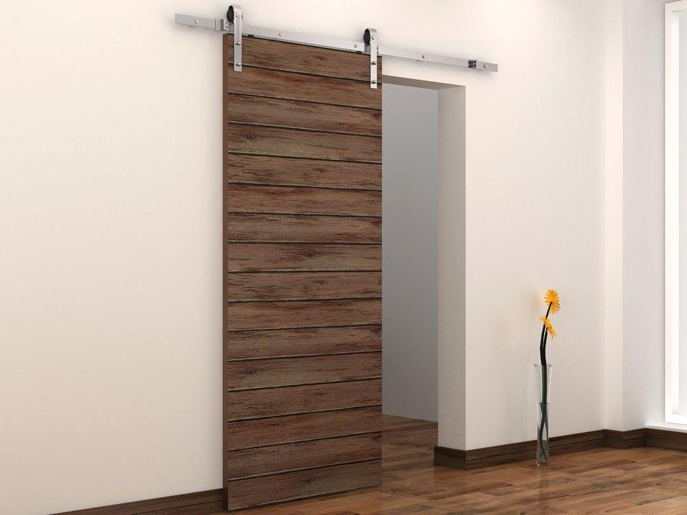 Modern Interior Classic Stainless Steel Sliding Barn Door Hardware Kit Track Set Ebay