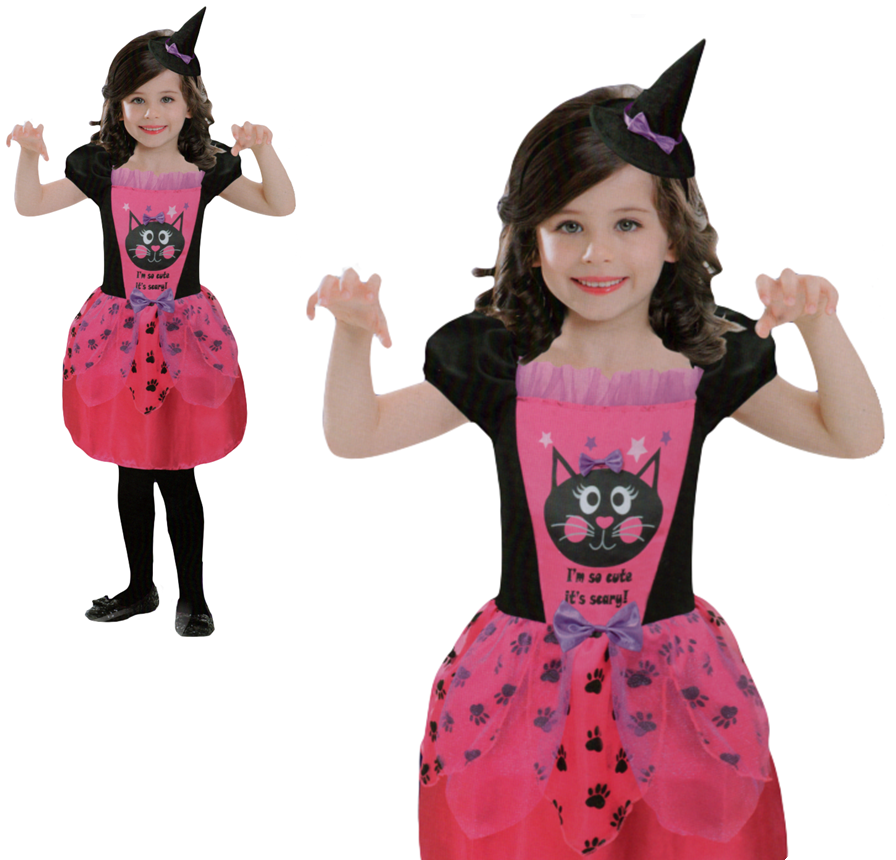 child witch costume girls halloween fancy dress outfit dress up age 345