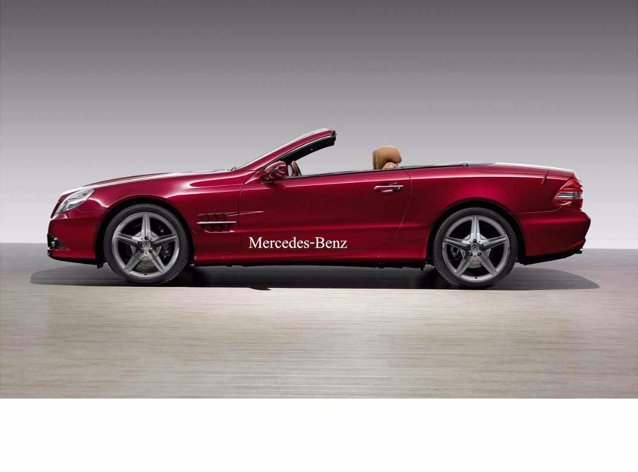 2 set mercedes benz racing amg sport vinyl decal for Mercedes benz decal
