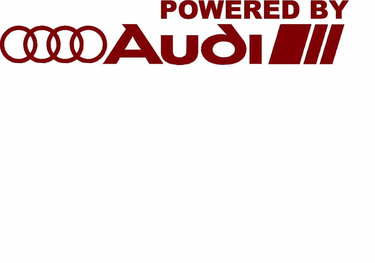 Powered By Audi Racing Sport S Line Window Decal Sticker Emblem Logo - Audi emblem