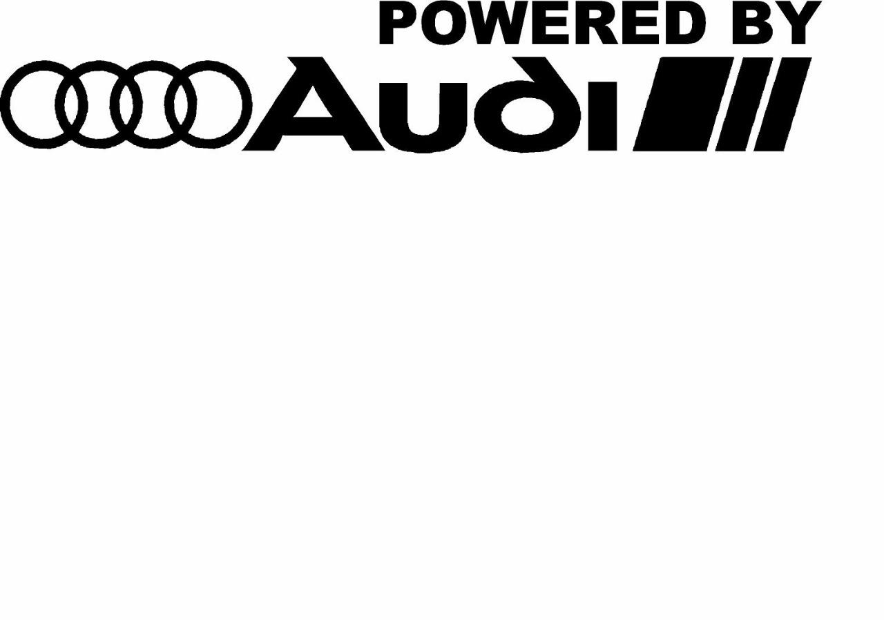 Powered By Audi Racing Sport S Line Window Decal Sticker