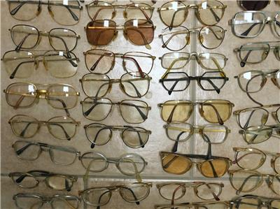 gold aviator eyeglasses  gold plated vintage