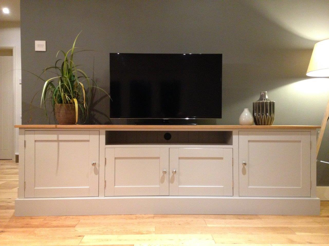 new solid pine oak 7ft tv unit stand cabinet painted shabby chic sideboard ebay. Black Bedroom Furniture Sets. Home Design Ideas