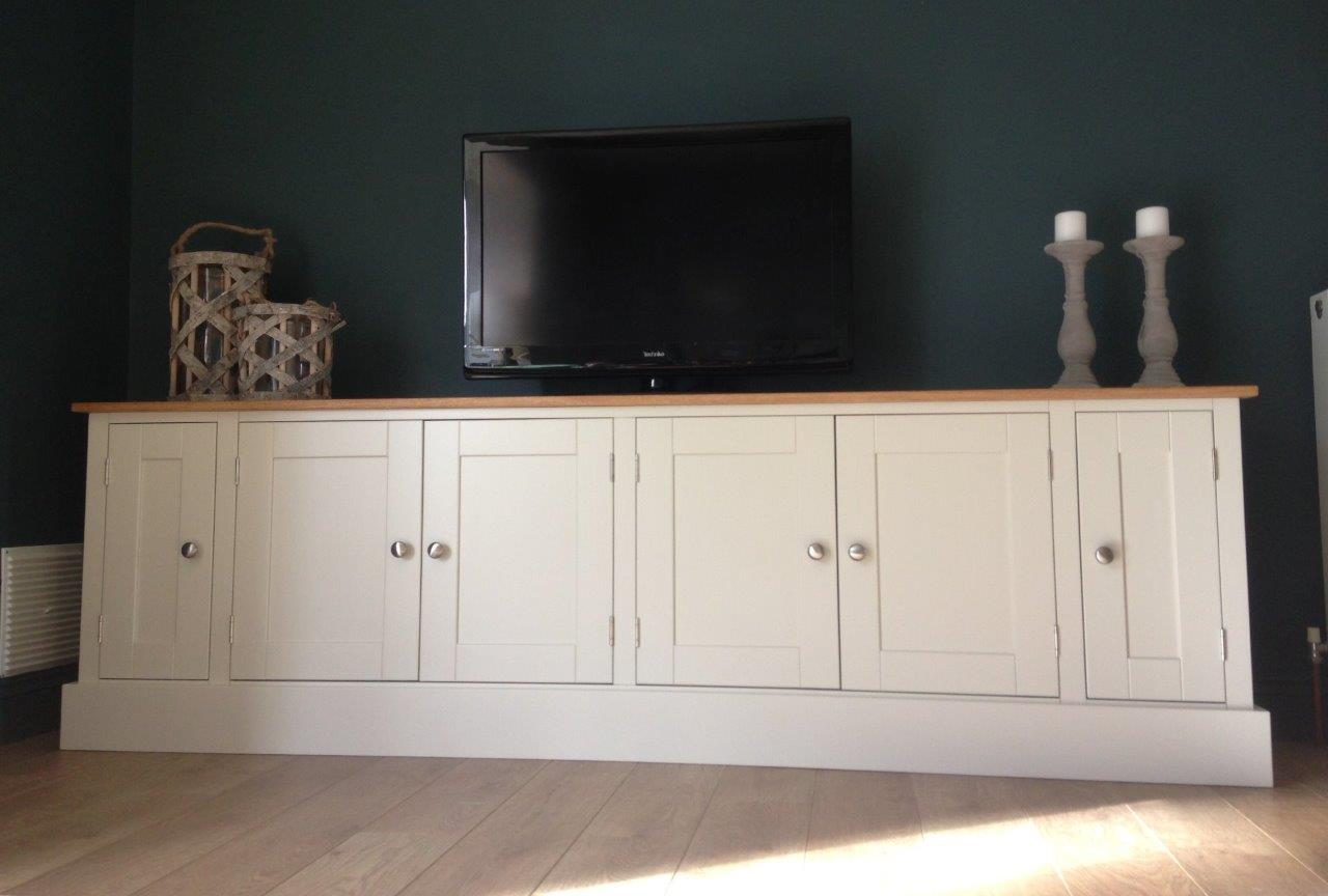 New Solid Pine & Oak 7ft TV Unit Stand Cabinet Painted Shabby Chic Sidebo -> Tv Sideboard Pinie