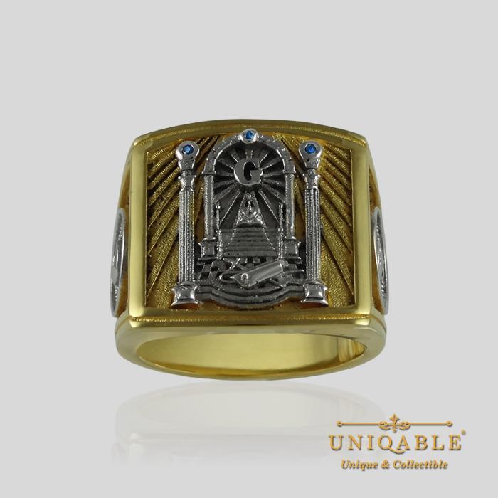masonic ring sterling silver 925 freemason ring gold 18k