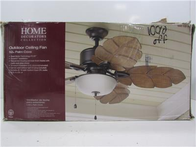 Home Deco Coll Palm Cove 52 Indoor Outdoor Natural Iron Ceiling Fan Ga89 29t