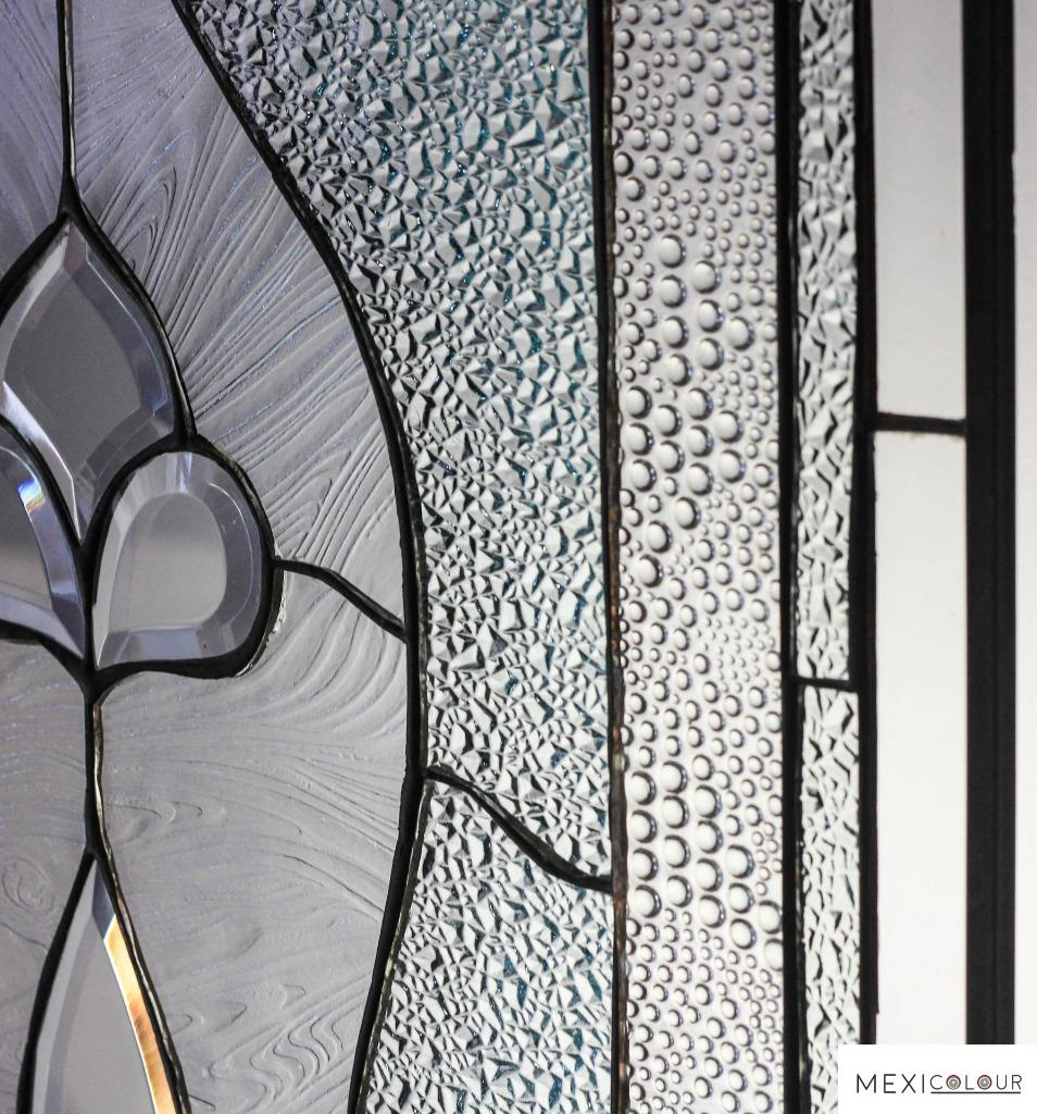 stained beveled glass window panel