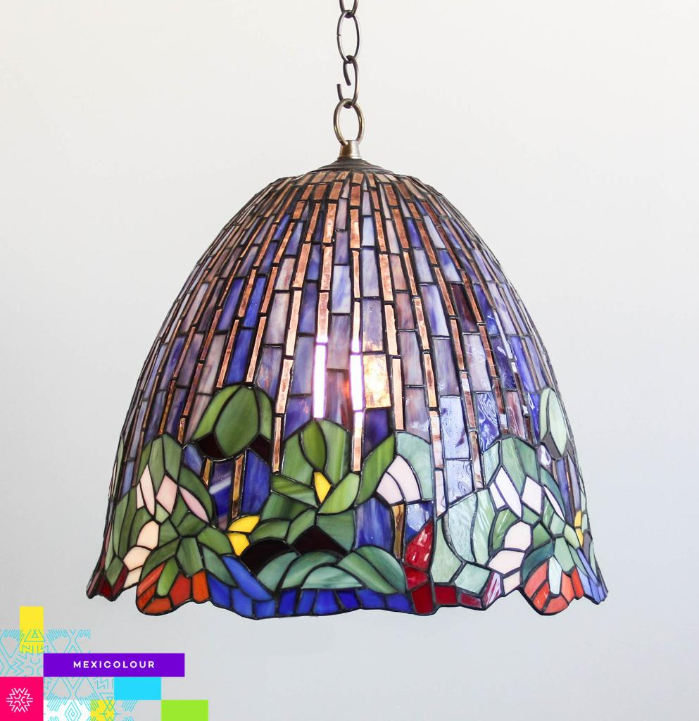 Stained Glass Lamp Shades For Table Lamps : Lotus flower tiffany style stained glass lamp shade desk
