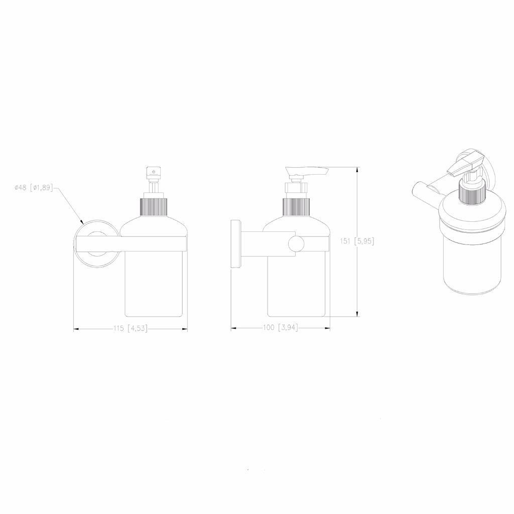 Kitchen Dish Soap Dispenser Brushed Nickel Wall Mount Sus