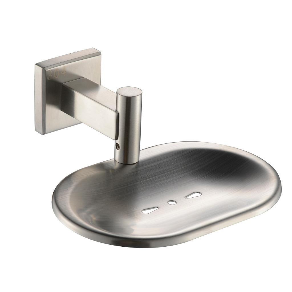Sus 304 stainless steel wall mounted bathroom brushed hand soap dish holder ebay for Wall mounted soap dishes for bathrooms