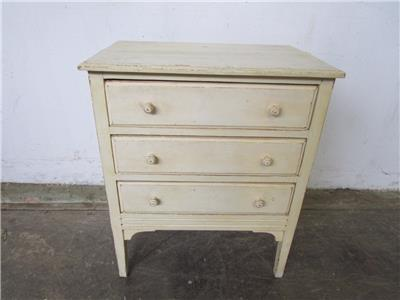 C50044 off white french style small chest of drawers for Small bedside chest of drawers