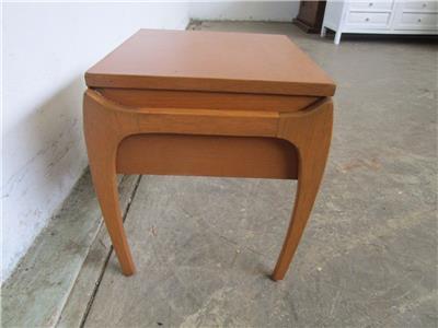 C50060 funky vintage retro teak bedside side table ebay for Funky bedside tables