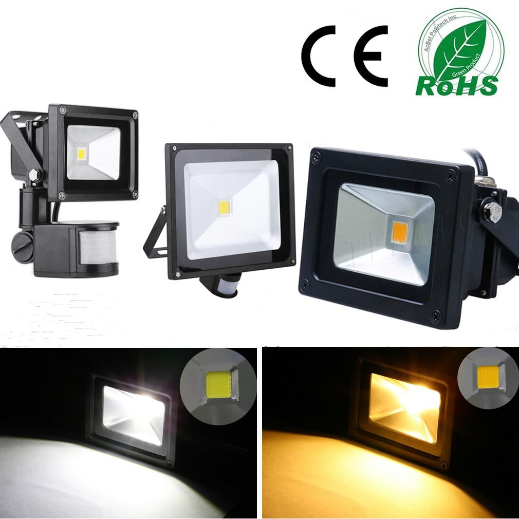 10w 30w 50w smd led fluter flutlicht strahler bewegungsmelder sensor licht weiss ebay. Black Bedroom Furniture Sets. Home Design Ideas