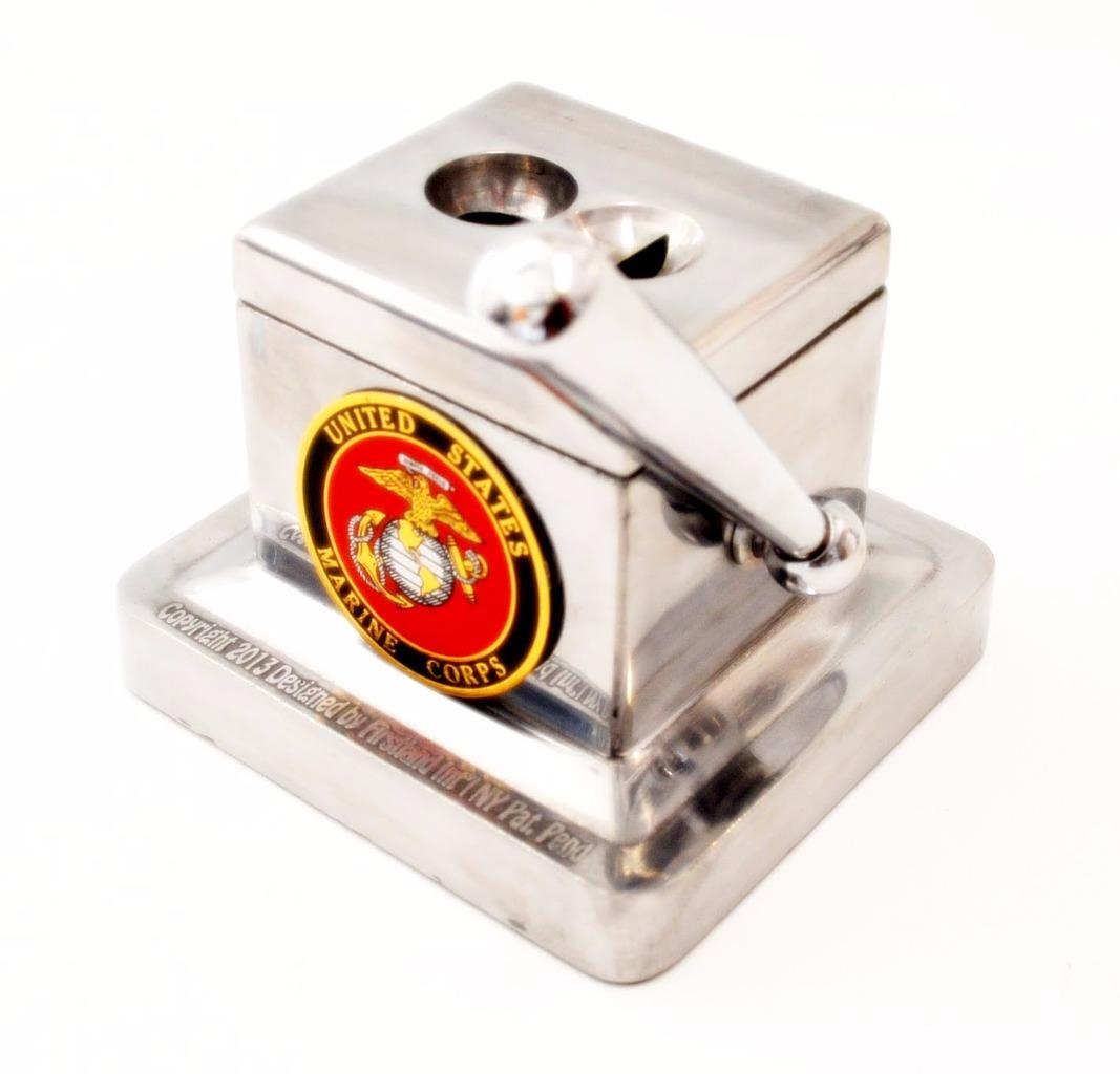 Marine Corps Small Dual Desk Top Cigar Cutter - 2 Different Cuts - SHIPS FREE