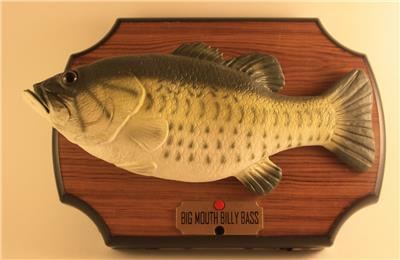 Vintage big mouth billy bass animatronic singing fish for Talking fish on wall