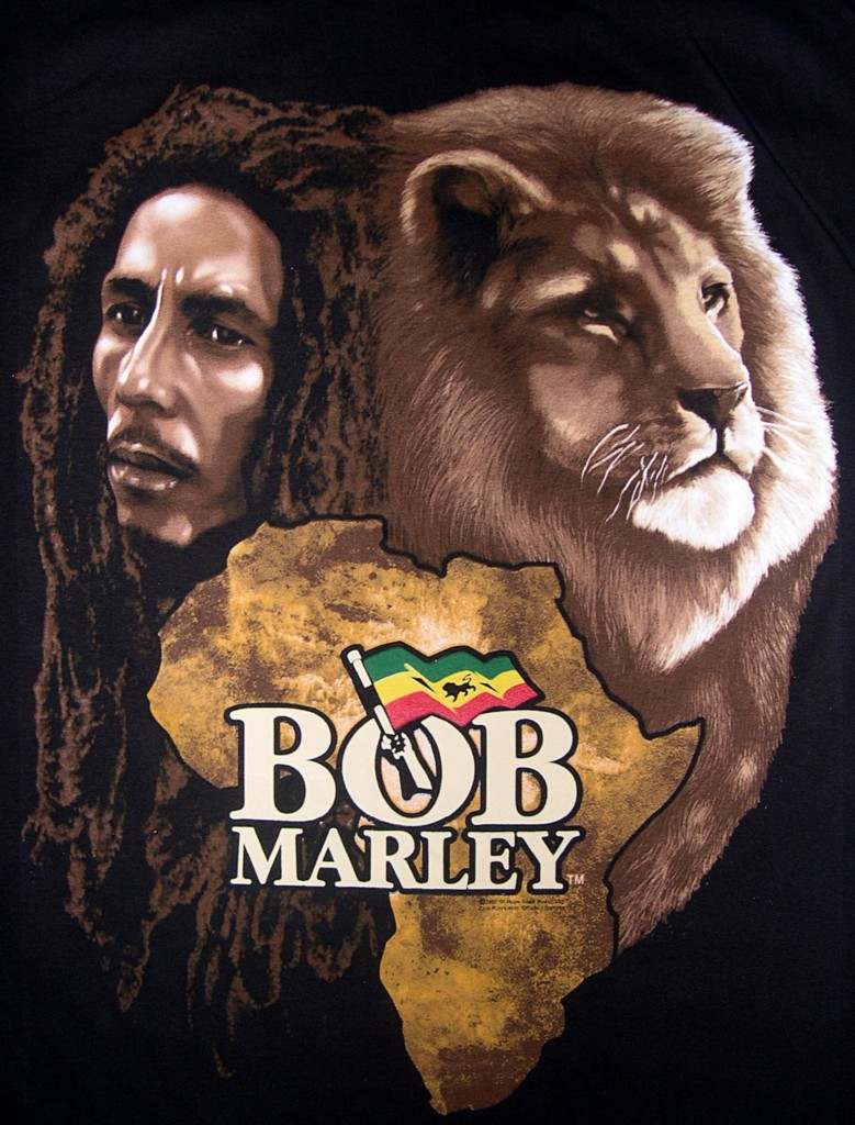 Bob Marley Lion black t shirt 1X 4X Zion Rootswear with reggae flag