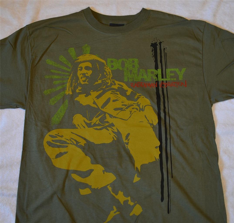 "Bob Marley ""Rastaman Vibration"" olive green t shirt 1X ..."