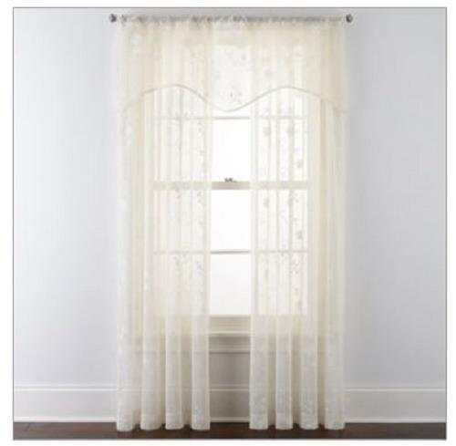 New Jcpenney Home Malta Rod Pocket Curtain Panel Window Treatment 7316321 Ebay