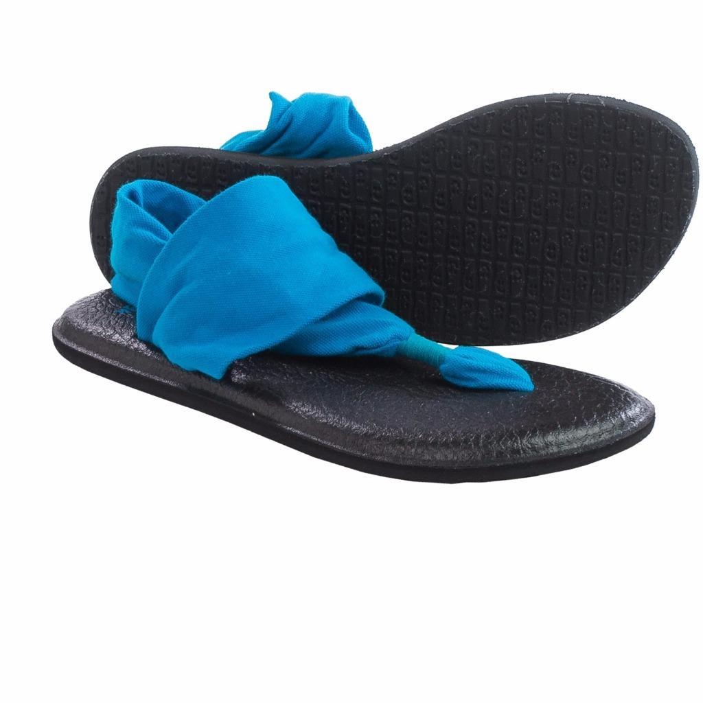 Sanuk Yoga Sling 2 Sandals Hot Pink Bright Blue 7 Women Ebay