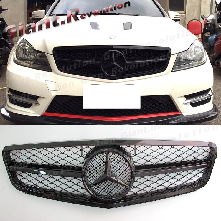 Fit 12 14 benz w204 sedan 4d c300 c350 gloss black tune to for 2014 mercedes benz c250 sport 4d sedan