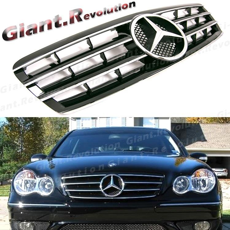 Sl type black front vent grille fit on 01 07 benz w203 for Mercedes benz c240 tune up