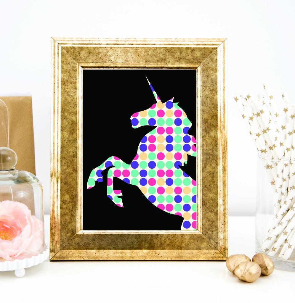 Unicorn Spots Wall Art Print Quote Art Print Home Office Decor Ebay
