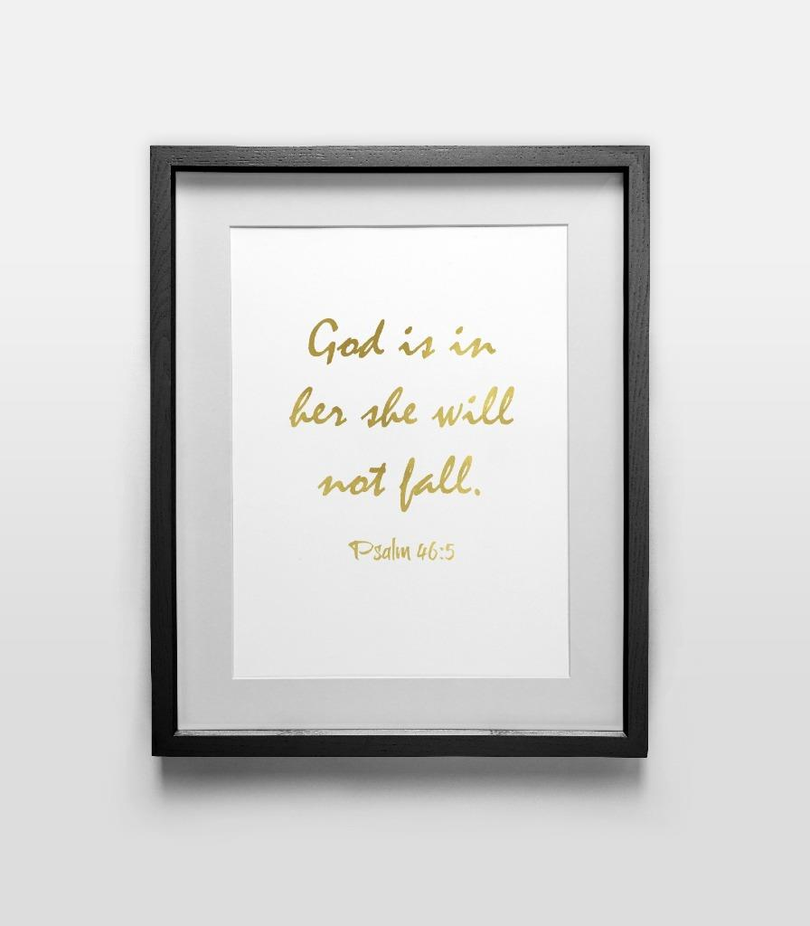 Religious 11 quote print wall art home office d cor gold for Religious decorations for home
