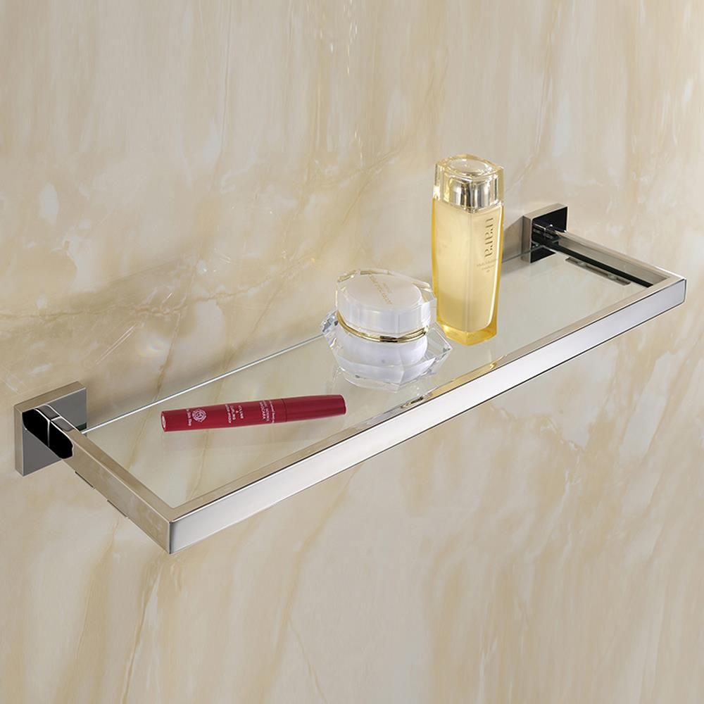 Durable stainless steel toothbrush razor holder bathroom for Etagere en verre salle de bain