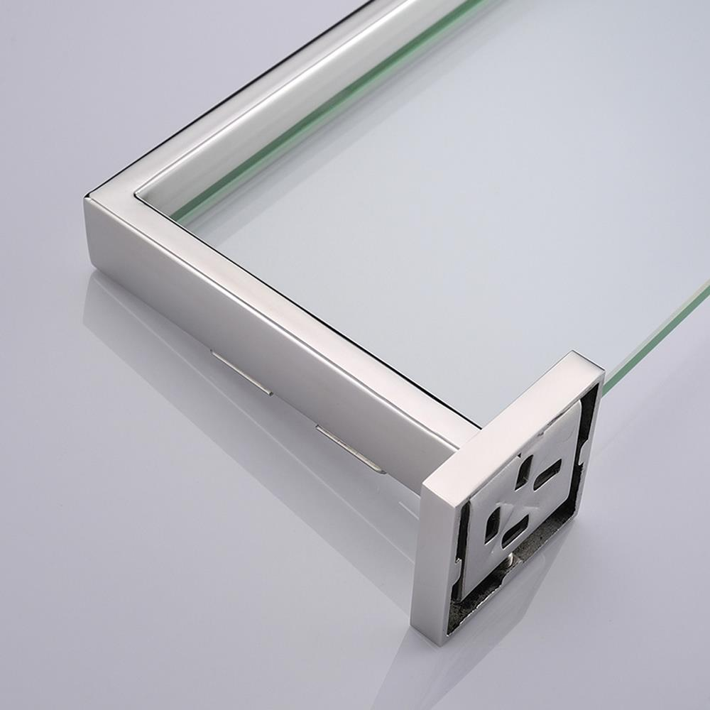 bathroom tempered glass shelf wall mount stainless steel. Black Bedroom Furniture Sets. Home Design Ideas