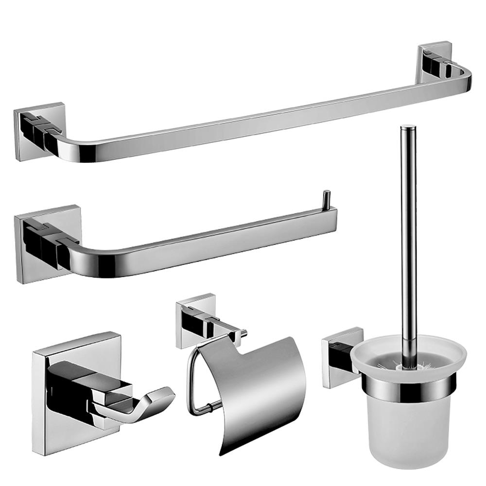 Sus 304 Stainless Steel Double Towel Bar Square Wall Shelf Rack Brushed Nickel Ebay
