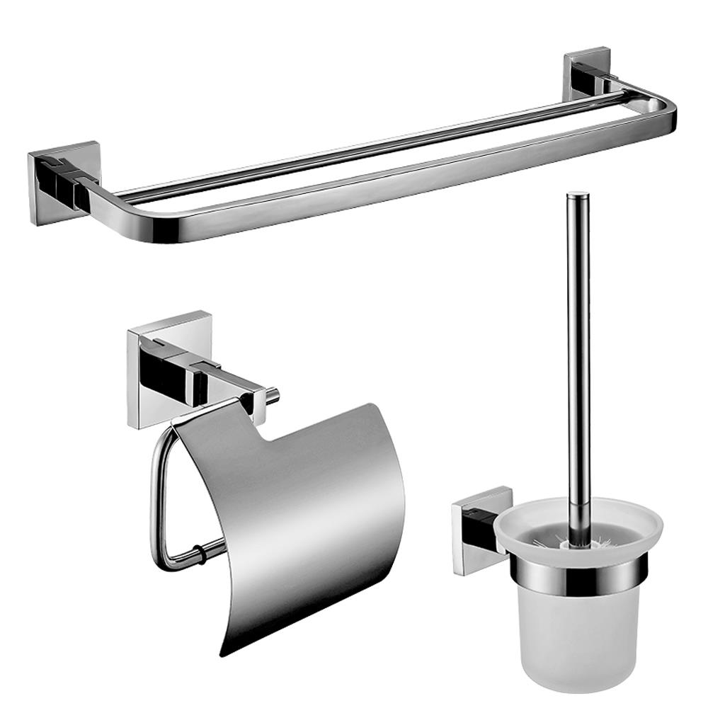 Stainless bathroom accessory set paper holder toilet - Bathroom accessories paper towel holder ...