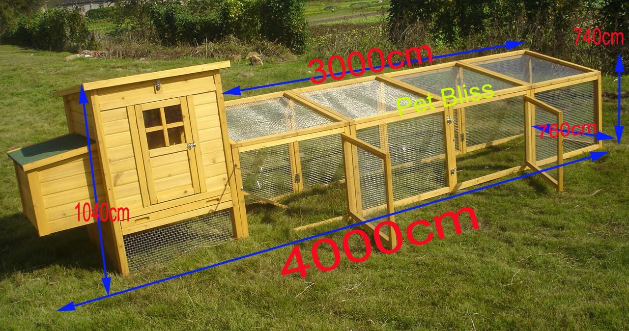 12ft chicken coop duck hen poultry ark house hutch run for Duck house door size