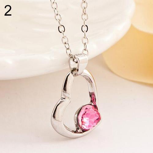 Creative-Love-DRIFT-Collana-con-Pendente-Cuore-Collana-Con-Ciondolo-Cuore-Crystal