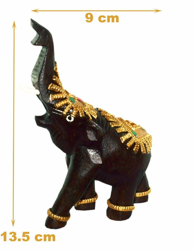 Gifts Thai Elephant Statuette Wood Decor Statue Wealth Lucky Figurine Home Ebay