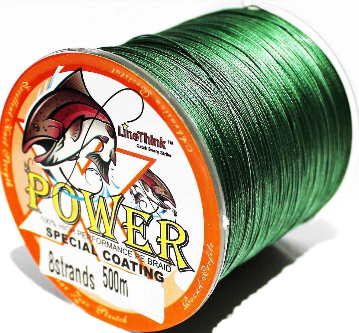 Pe braid fishing line 4 strand 50 lb green 500m power for 50 lb braided fishing line