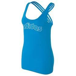 Ladies-bight-blue-ADIDAS-Gym-Tank-multi-strap-racer-back-sz-14-BRAND-NEW