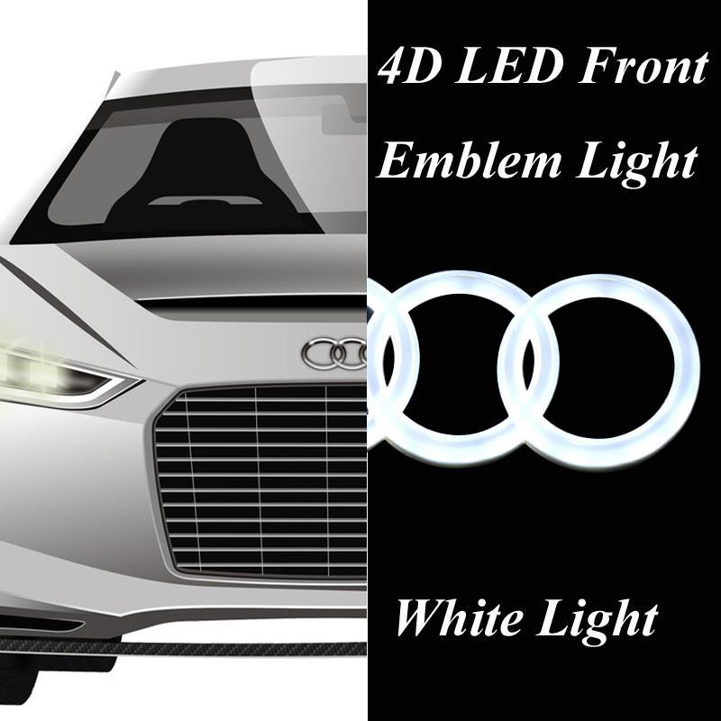 4d car front grille badge emblem logo with white led light. Black Bedroom Furniture Sets. Home Design Ideas