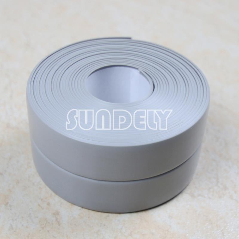 Grey Kitchen And Bath Caulk: 320CM Roll 38MM Wide Gray Sealing Strip. Bath, Shower