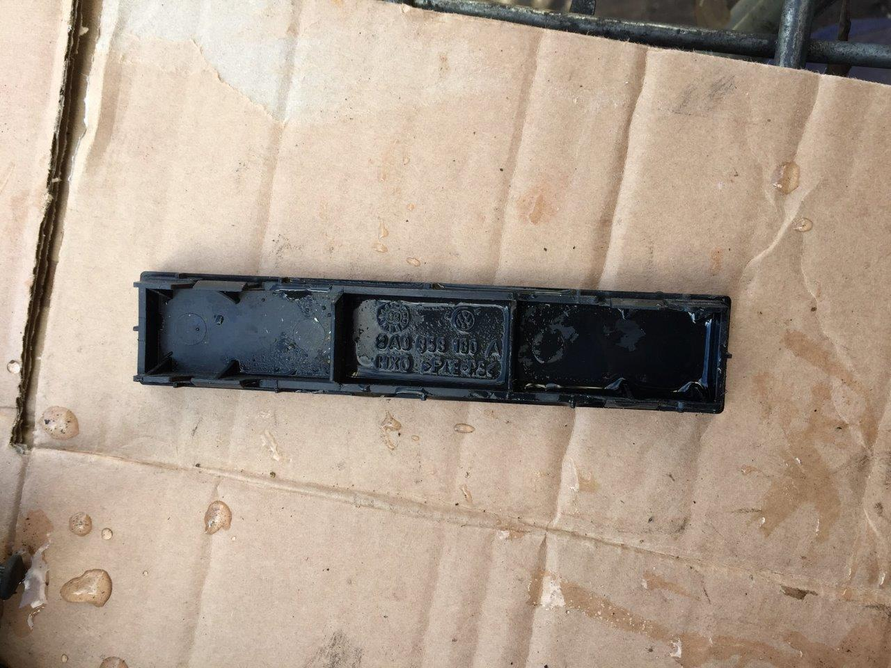 VW T4 TRANSPORTER 1990-2003 LONG DASHBOARD CENTRE CONSOLE BLANK 3A0858180A
