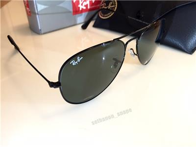 black aviator sunglasses  black/green