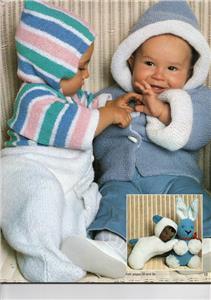 Free Knitting Pattern Cowl : Pingouin Baby Layette Knitting Pattern Book No 14 eBay