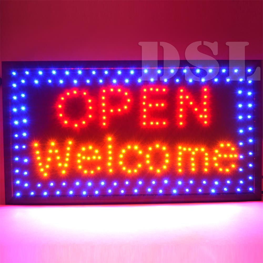 Shop Open Sign Lights: Top Quality Super Bright Flashing LED OPEN Shop Sign Neon