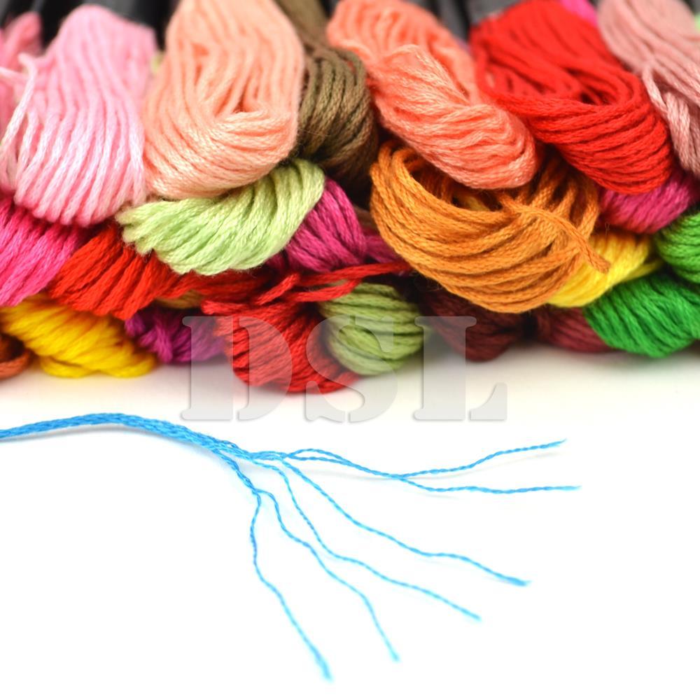 120 X Skein Coloured Embroidery Thread Cotton Cross Stitch