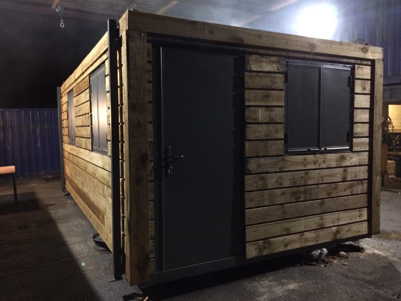 20ft x 8ft fully clad fully insulated portable office for Insulated office