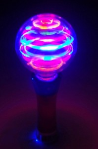 details about flashing light up rave party toy led wand spinning rave. Black Bedroom Furniture Sets. Home Design Ideas
